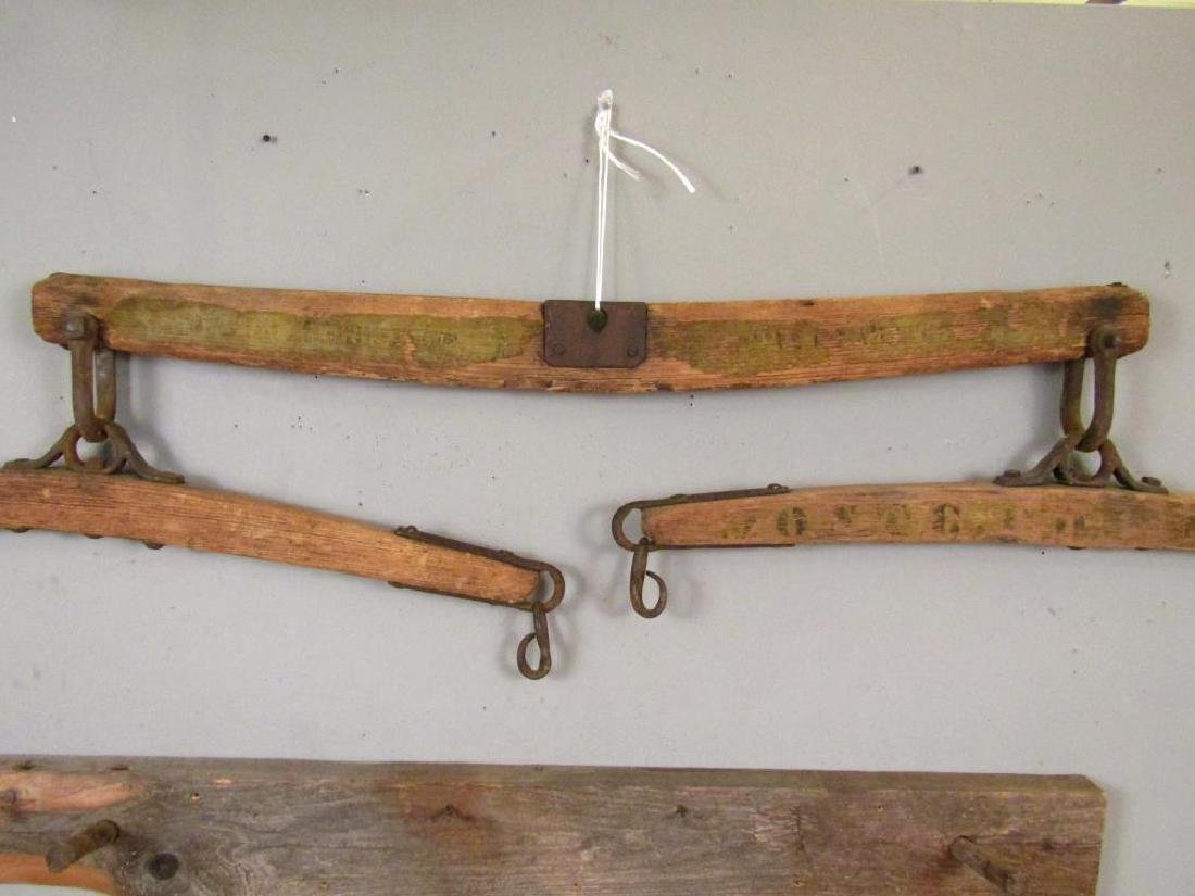 Antique Yoke And a Coat Rack - 2
