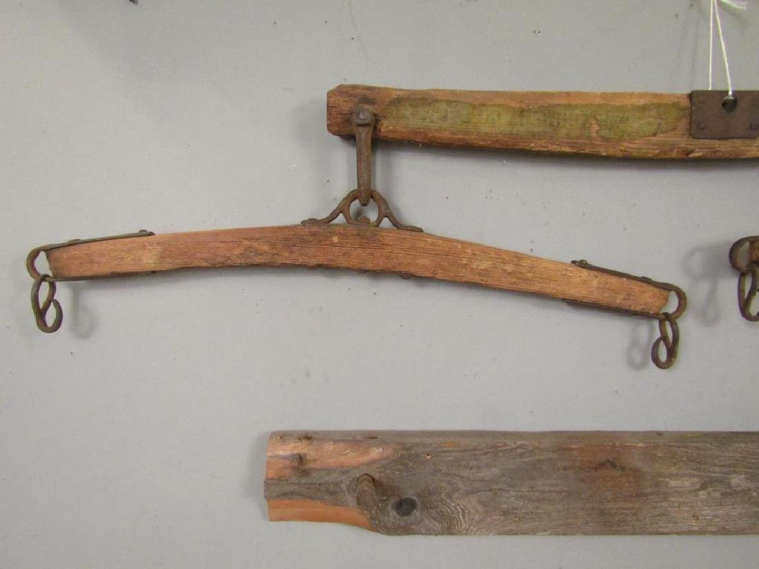Antique Yoke And a Coat Rack - 4