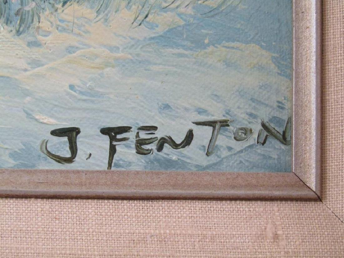Signed J. Fenton - Oil on Canvas - 4