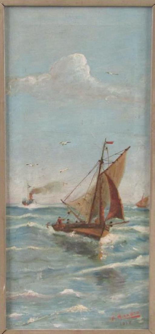 Signed F. Miranda - Oil on Canvas