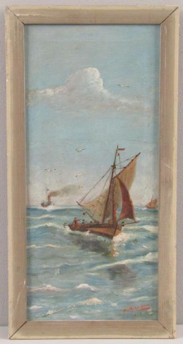 Signed F. Miranda - Oil on Canvas - 2