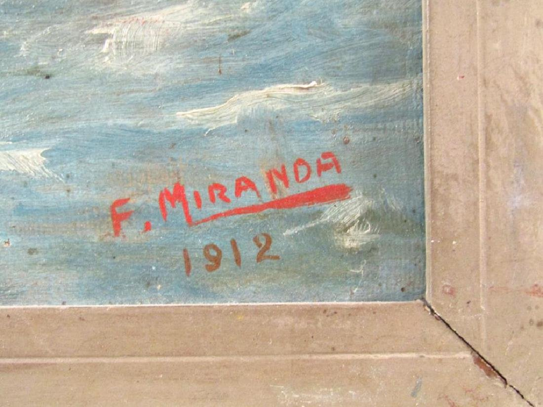 Signed F. Miranda - Oil on Canvas - 6