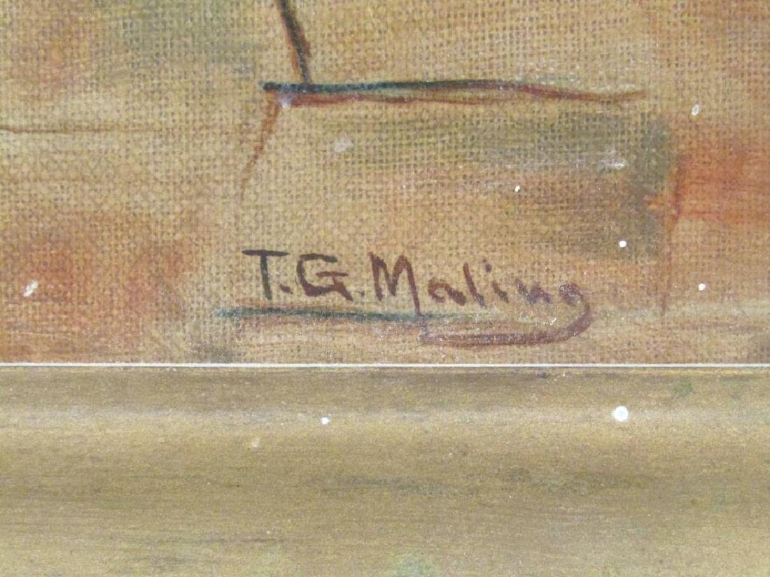 Signed T. G. Maling - Oil on Canvas Board - 5