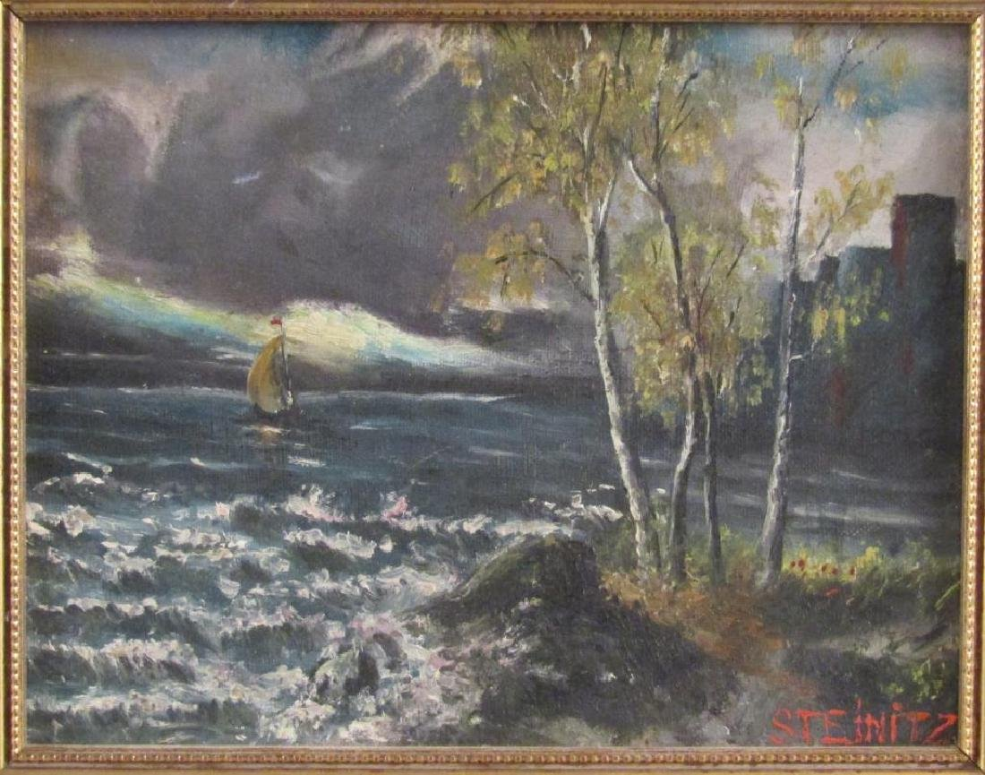 Signed Steinitz - Oil on Board