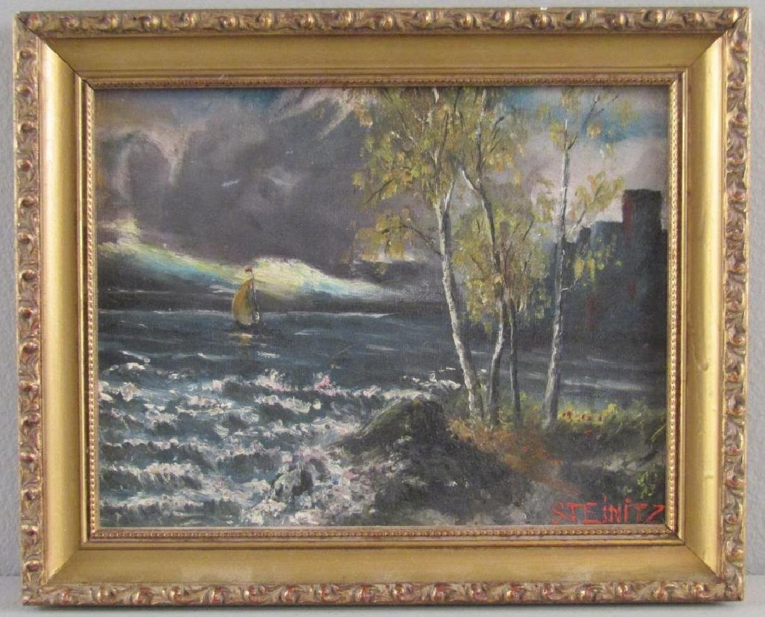 Signed Steinitz - Oil on Board - 2
