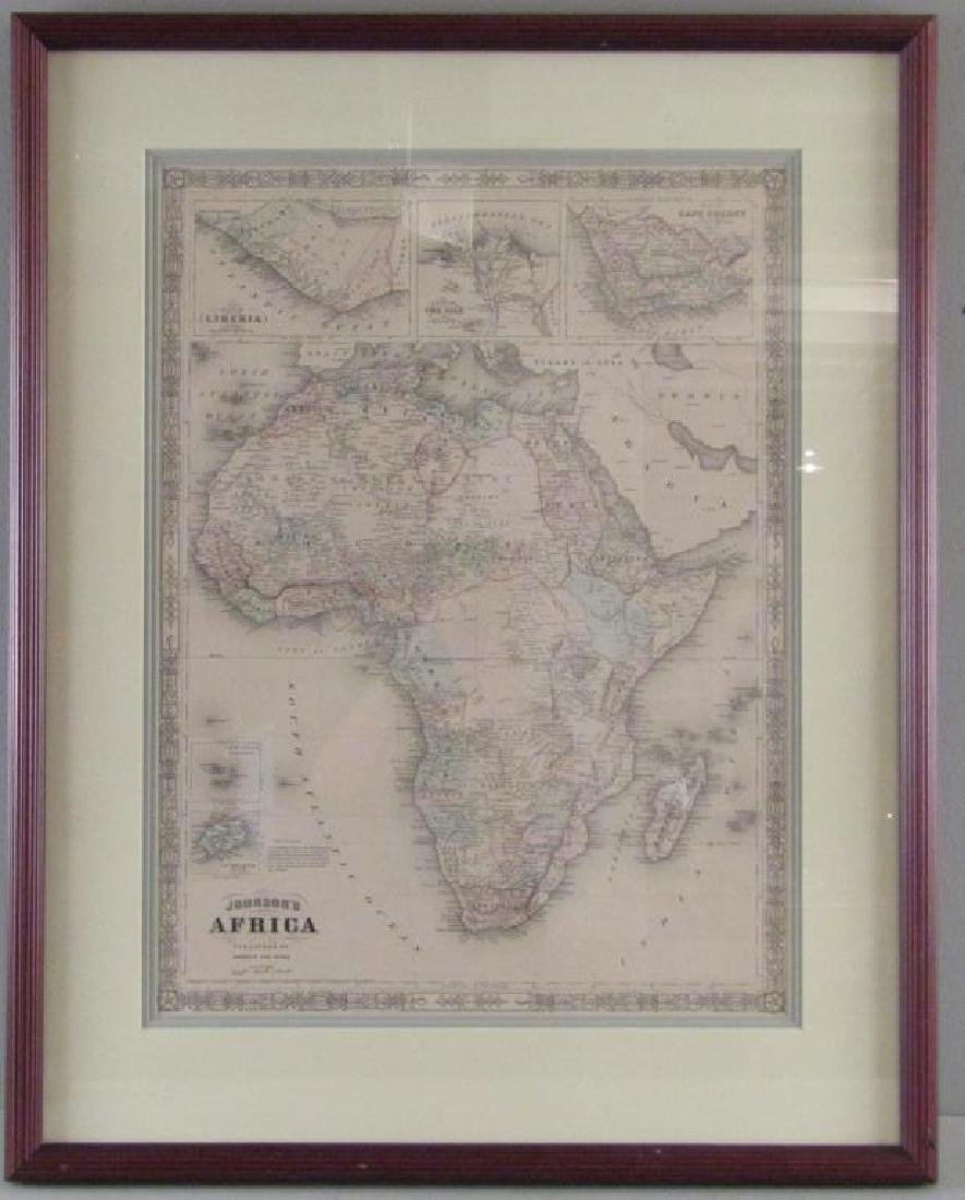 Johnson and Ward Colored Map of Africa - 2