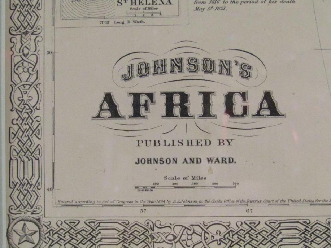Johnson and Ward Colored Map of Africa - 3