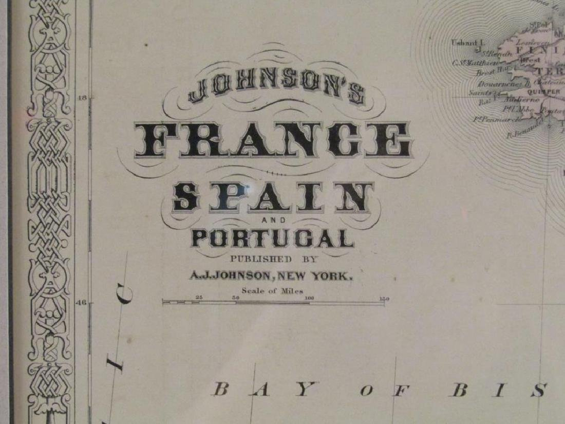 A.J. Johnson Map of France, Spain, and Portugal - 3