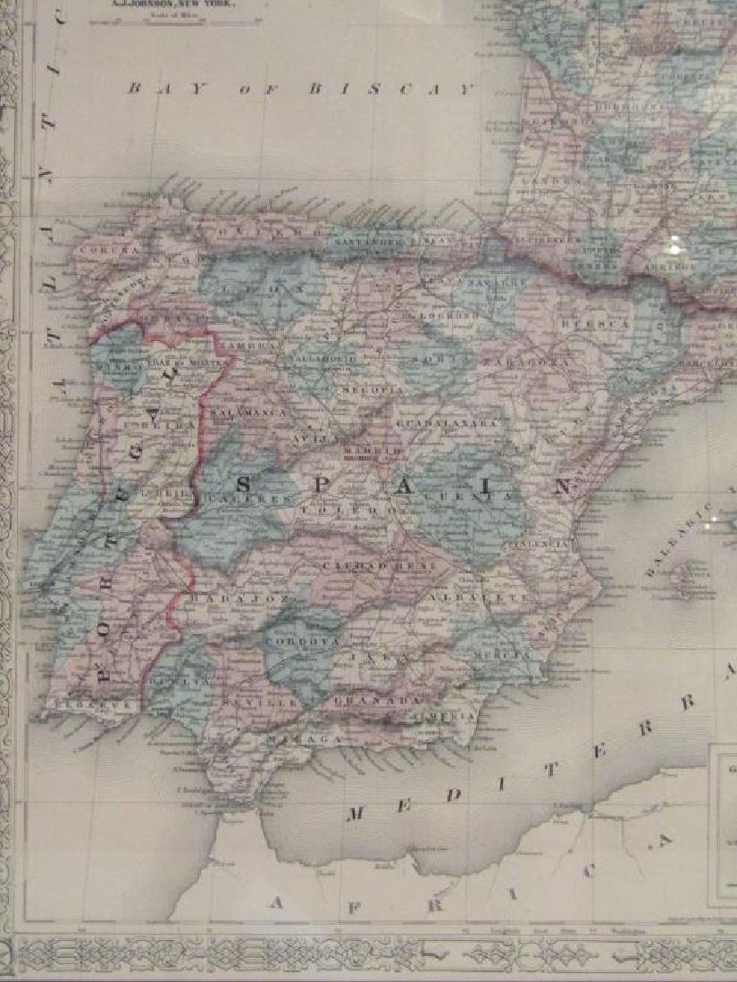 A.J. Johnson Map of France, Spain, and Portugal - 8