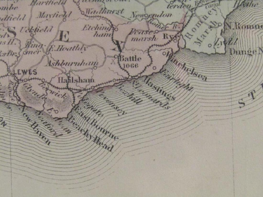 Johnson and Ward Colored Map England & Wales - 6