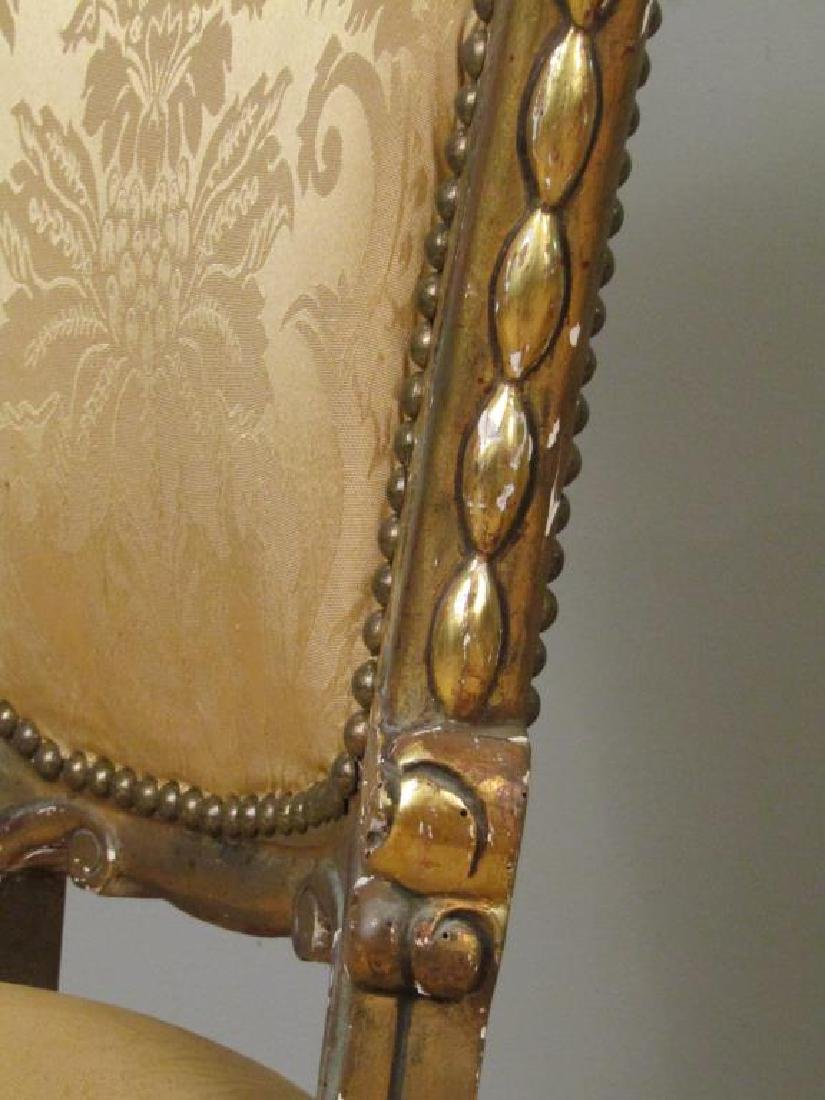 Pair Carved and Gilt Wood Side Chairs - 4