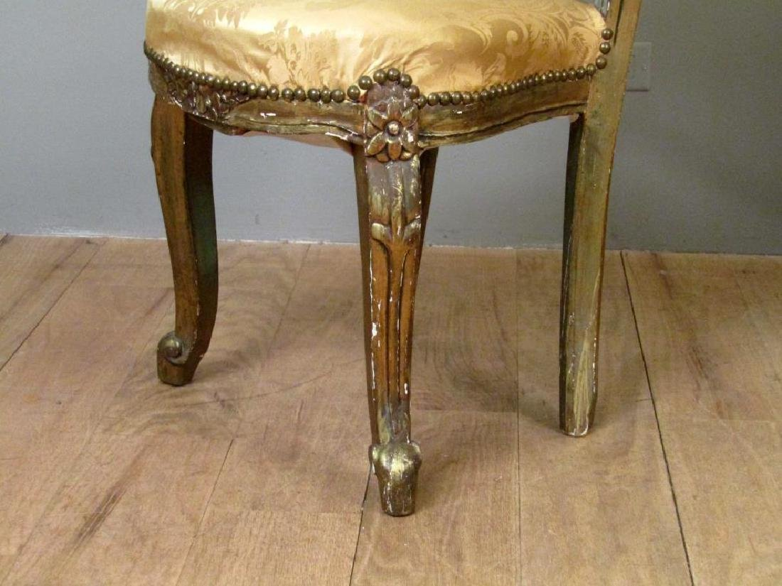 Pair Carved and Gilt Wood Side Chairs - 5