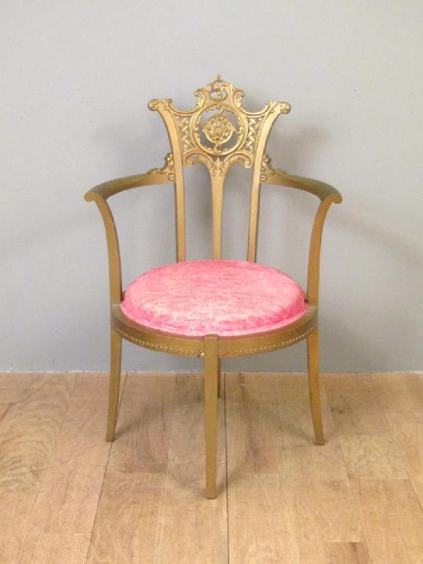 Gilt Wood Arm Chair