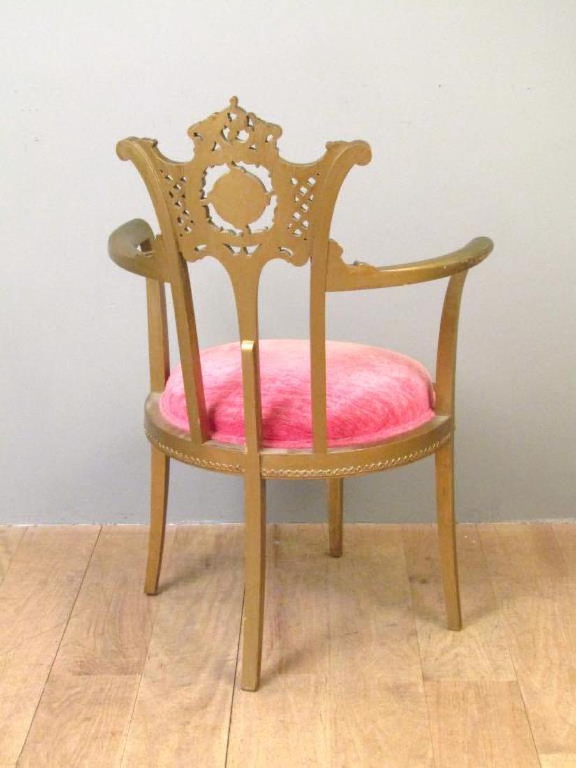 Gilt Wood Arm Chair - 2