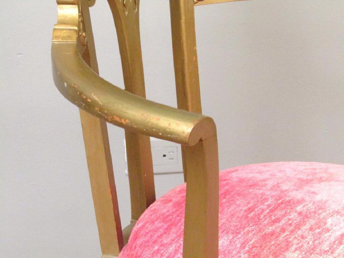 Gilt Wood Arm Chair - 4
