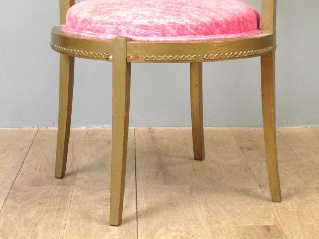 Gilt Wood Arm Chair - 5