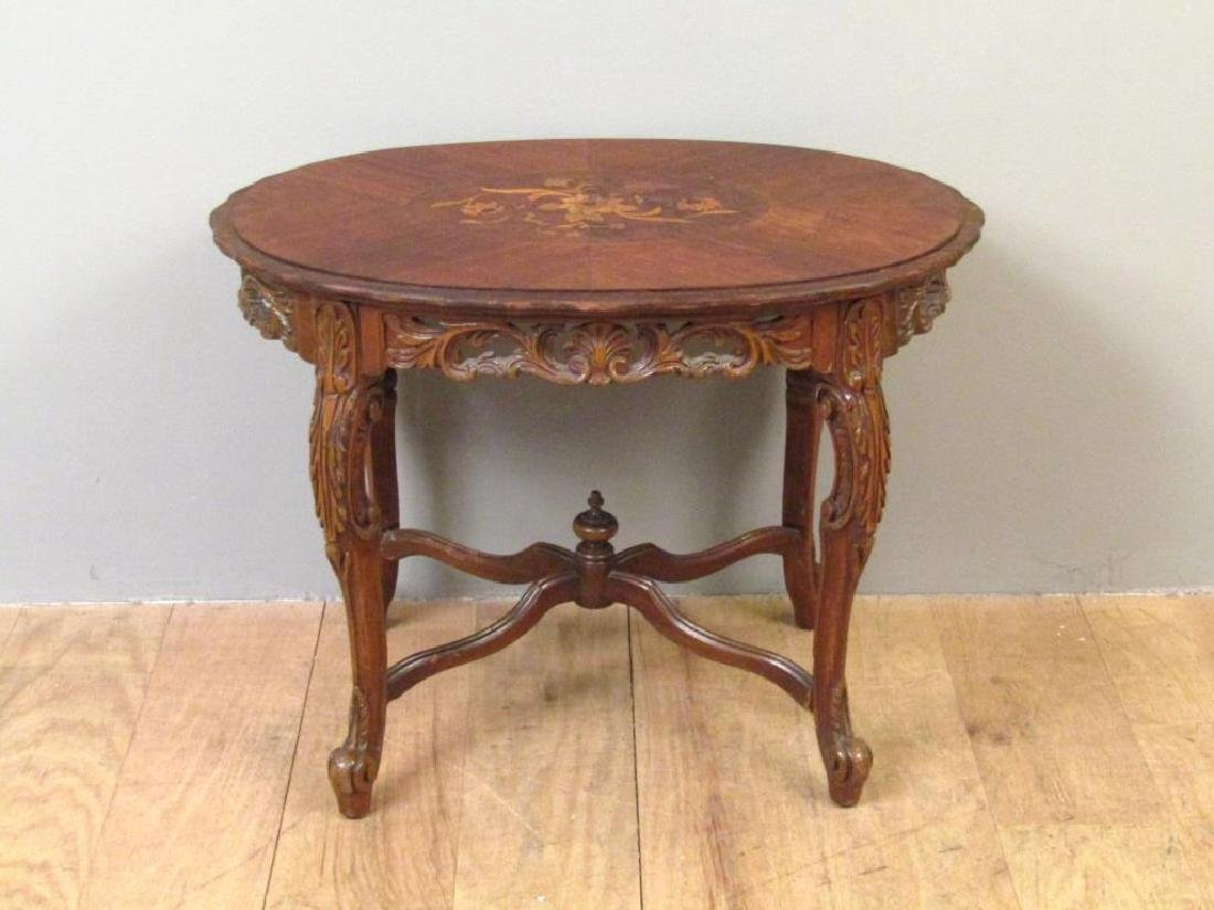 English Inlaid Low Table