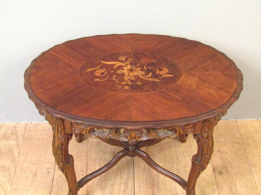 English Inlaid Low Table - 2