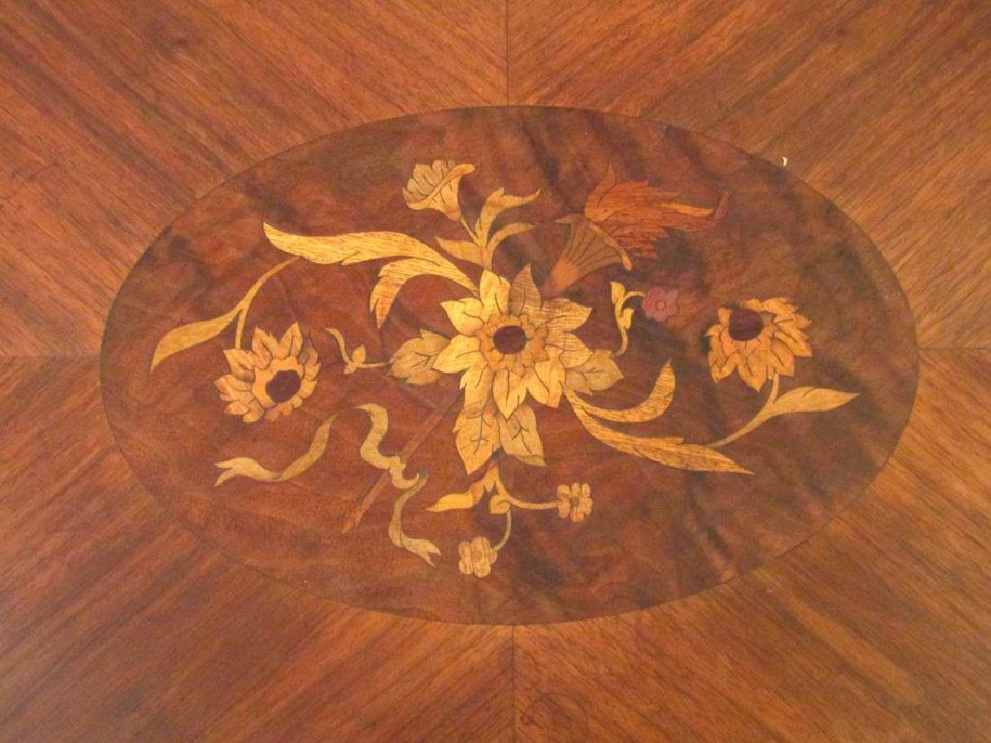 English Inlaid Low Table - 3