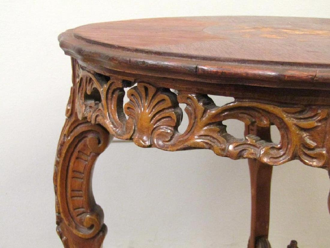 English Inlaid Low Table - 4