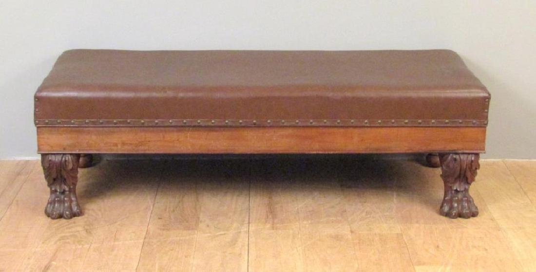 Faux Leather Upholstered Window Bench