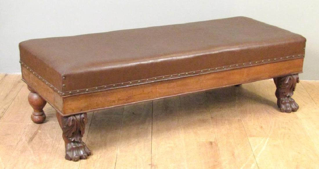 Faux Leather Upholstered Window Bench - 2