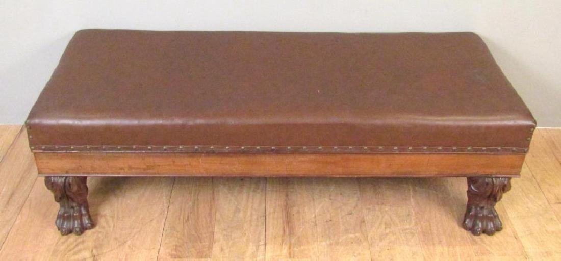 Faux Leather Upholstered Window Bench - 3