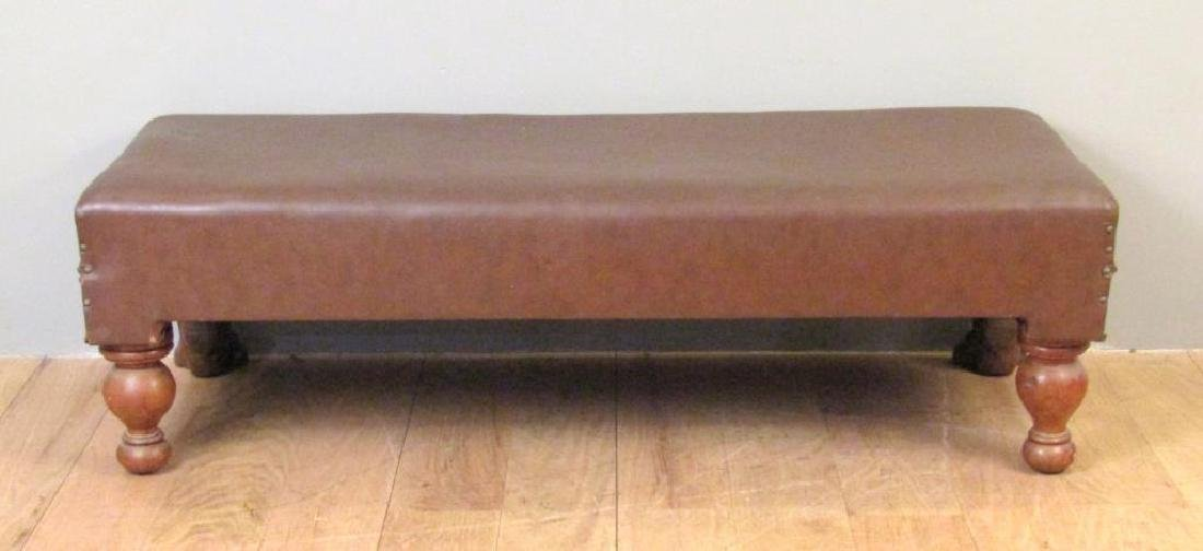 Faux Leather Upholstered Window Bench - 5