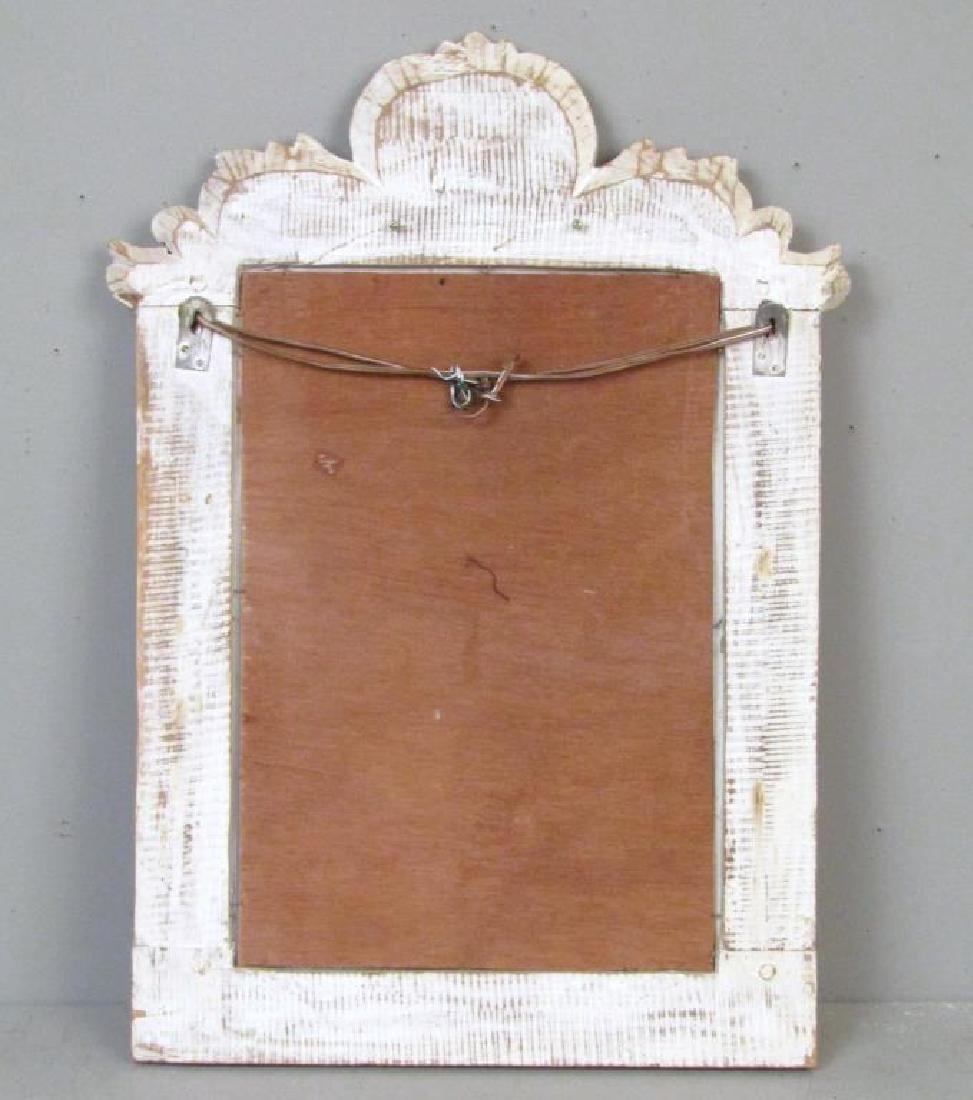Painted Wood Mirror - 5
