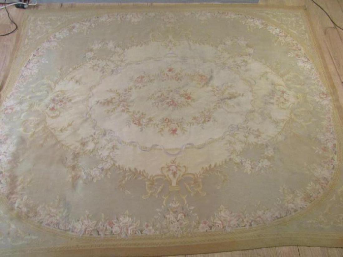 """Contemporary Aubusson Carpet  7'10"""" X 9'10"""""""