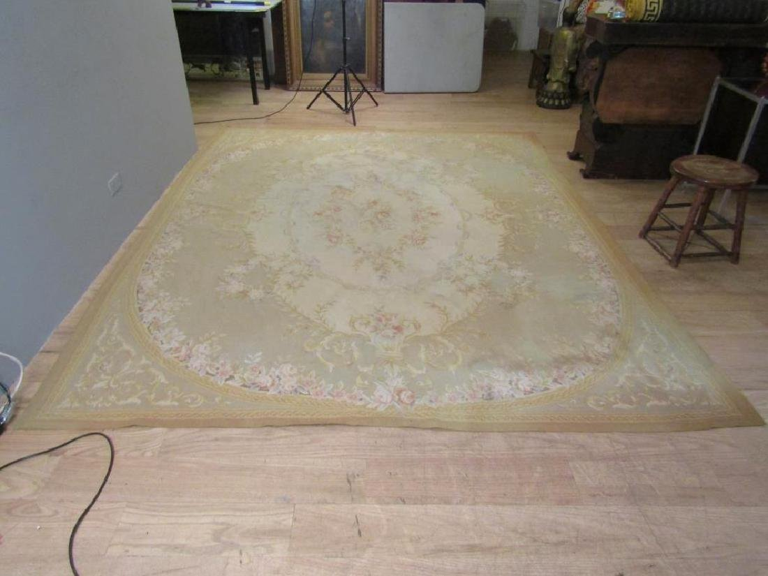 """Contemporary Aubusson Carpet  7'10"""" X 9'10"""" - 2"""