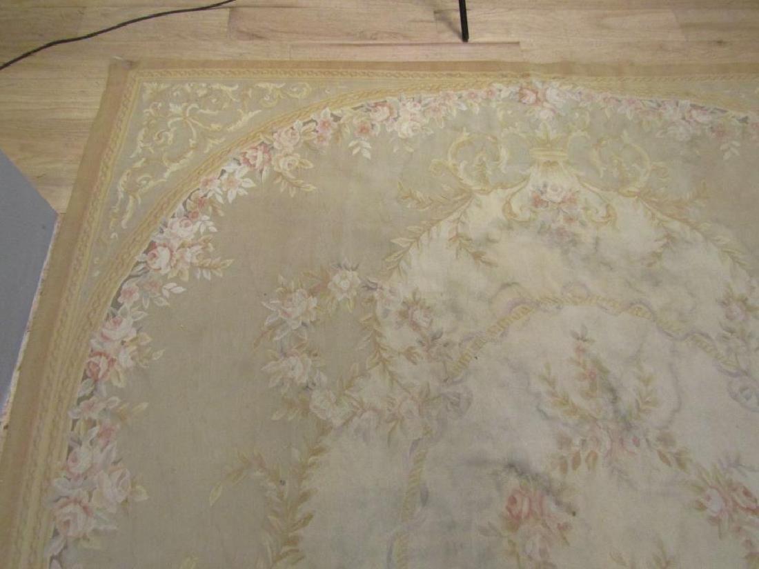 """Contemporary Aubusson Carpet  7'10"""" X 9'10"""" - 3"""