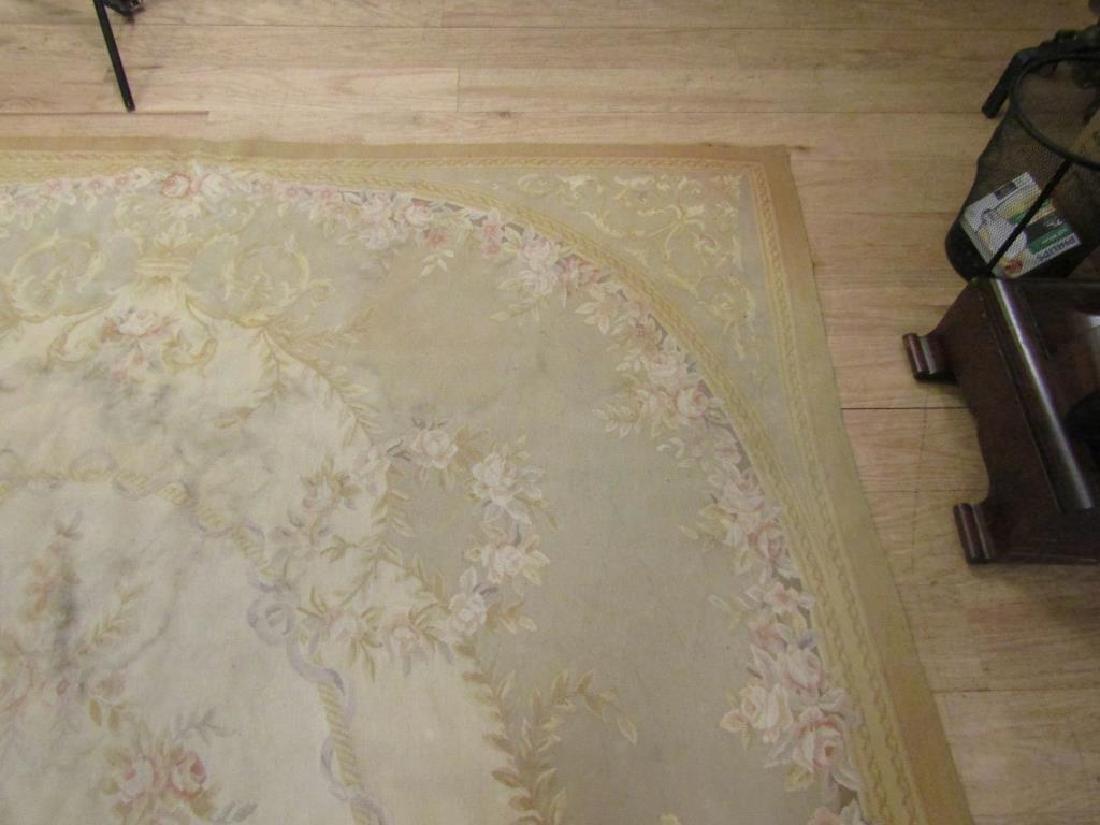 """Contemporary Aubusson Carpet  7'10"""" X 9'10"""" - 4"""