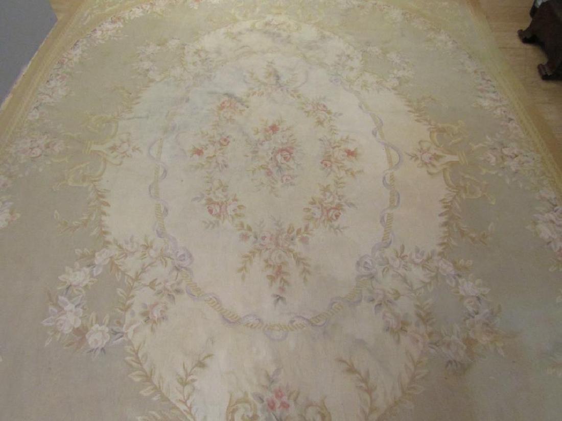 """Contemporary Aubusson Carpet  7'10"""" X 9'10"""" - 5"""
