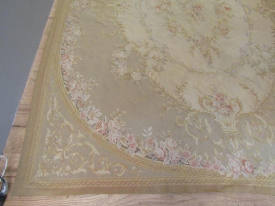 """Contemporary Aubusson Carpet  7'10"""" X 9'10"""" - 6"""