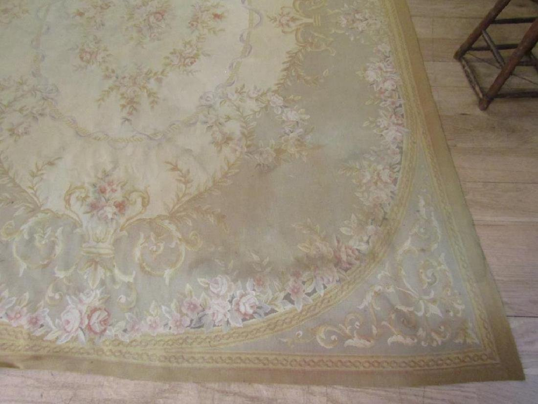 """Contemporary Aubusson Carpet  7'10"""" X 9'10"""" - 7"""