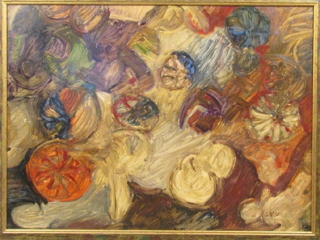 After Ernst Nay (German, 1902-1968)- Oil on Board