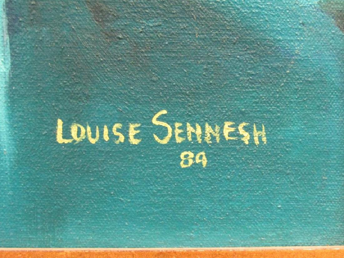 Signed Louise Sennesh - Oil on Canvas - 4