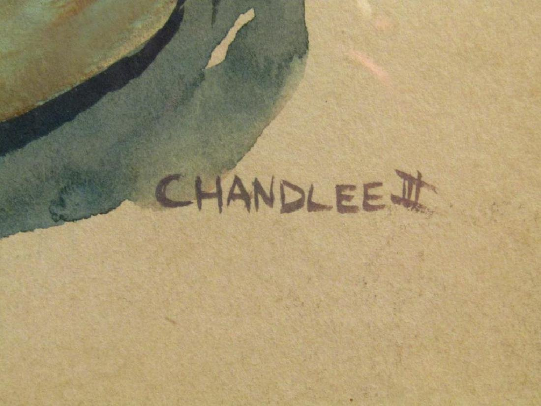 Signed Chandlee III - Watercolor - 4
