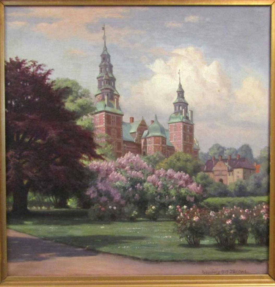 Signed Rosenborg - Oil on Canvas