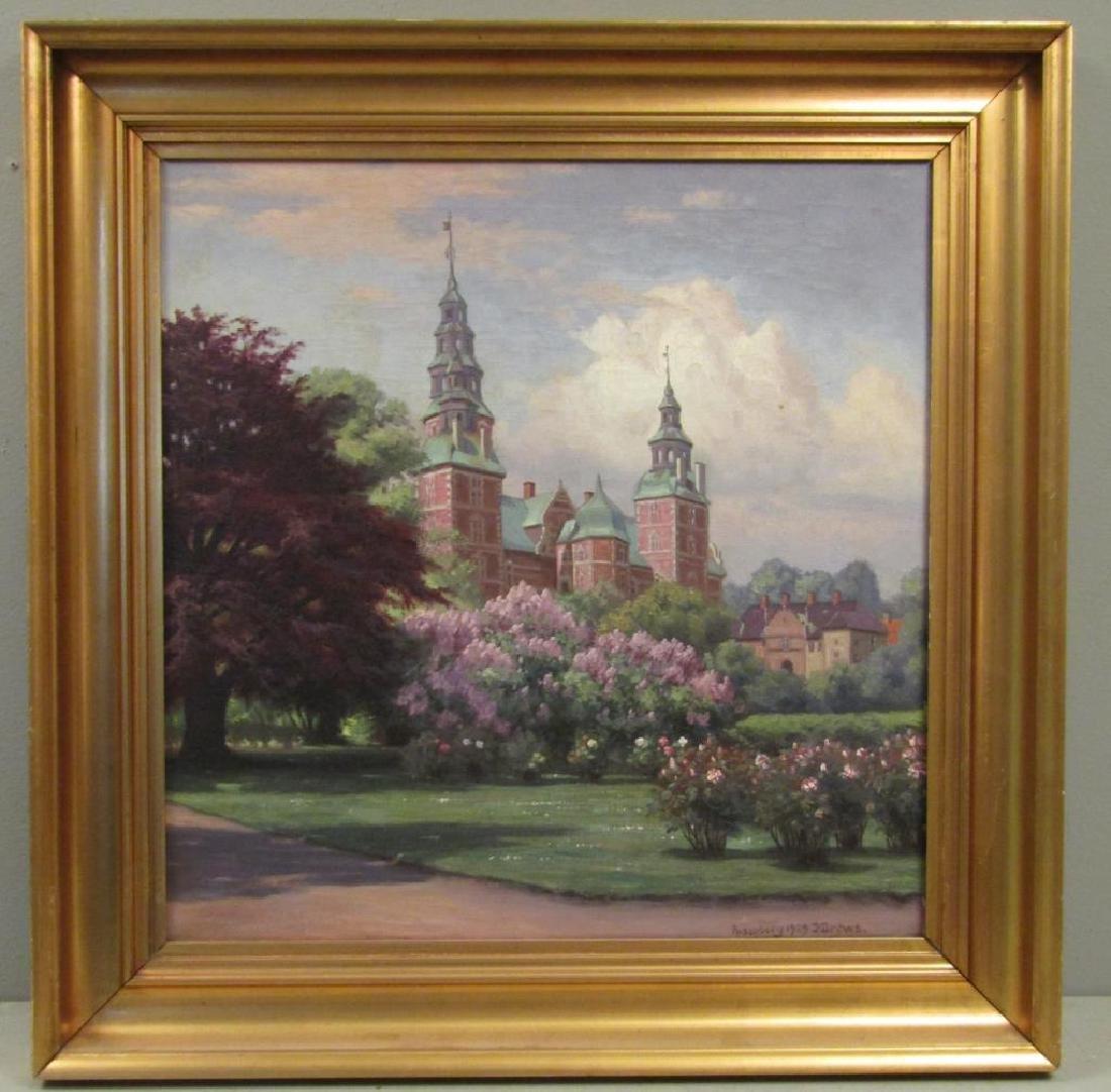 Signed Rosenborg - Oil on Canvas - 2
