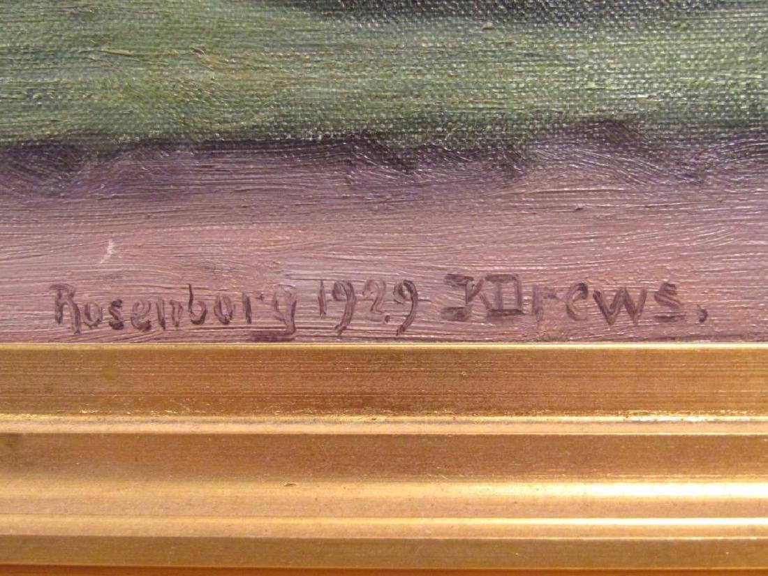 Signed Rosenborg - Oil on Canvas - 4