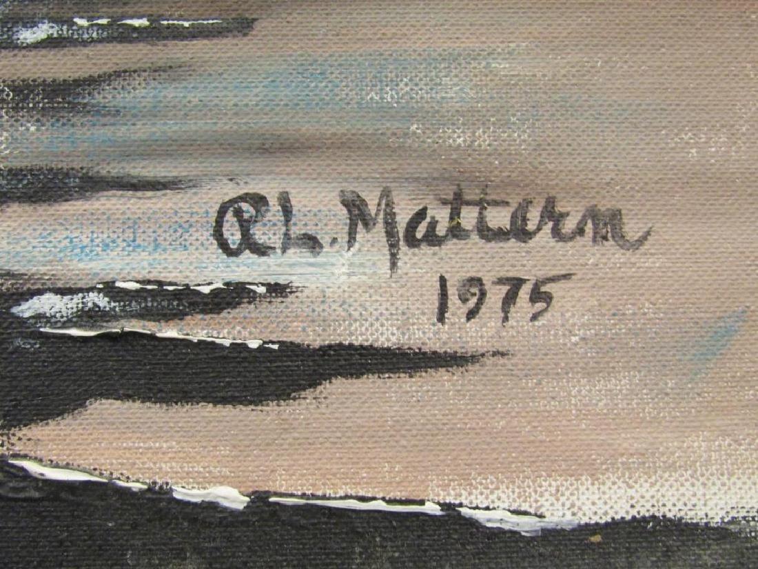 Signed R. L. Mattern - Oil on Board - 5