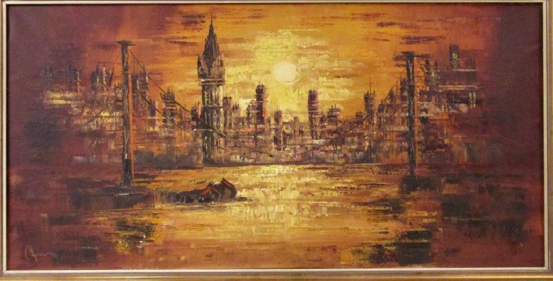Signed Illegibly - German Oil on Canvas