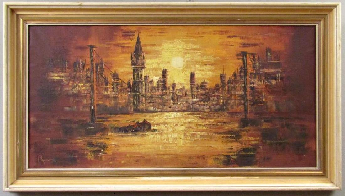 Signed Illegibly - German Oil on Canvas - 2