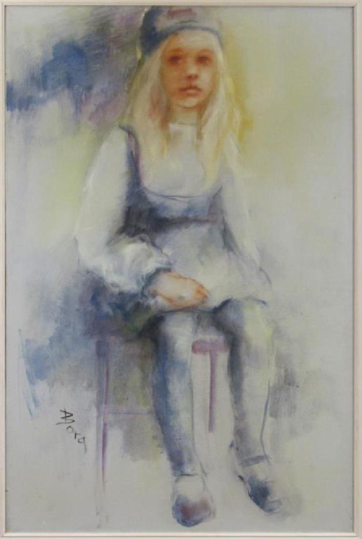 Signed Bora - Oil on Canvas