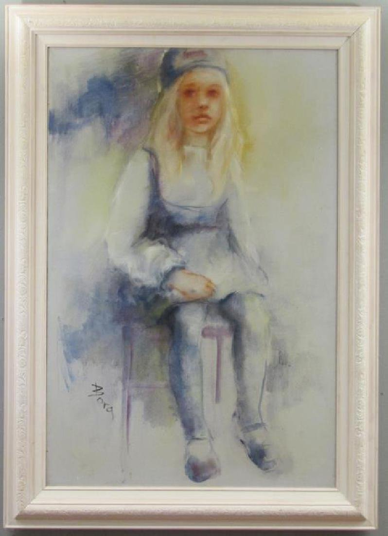 Signed Bora - Oil on Canvas - 2