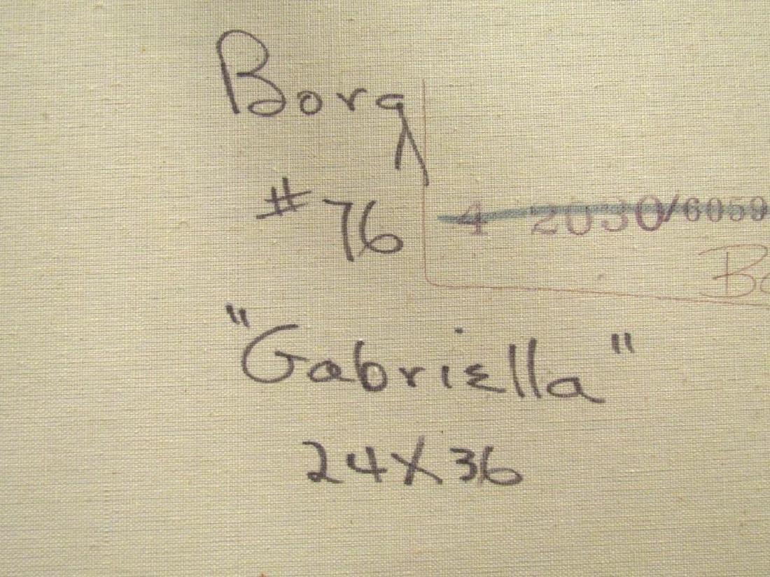 Signed Bora - Oil on Canvas - 6