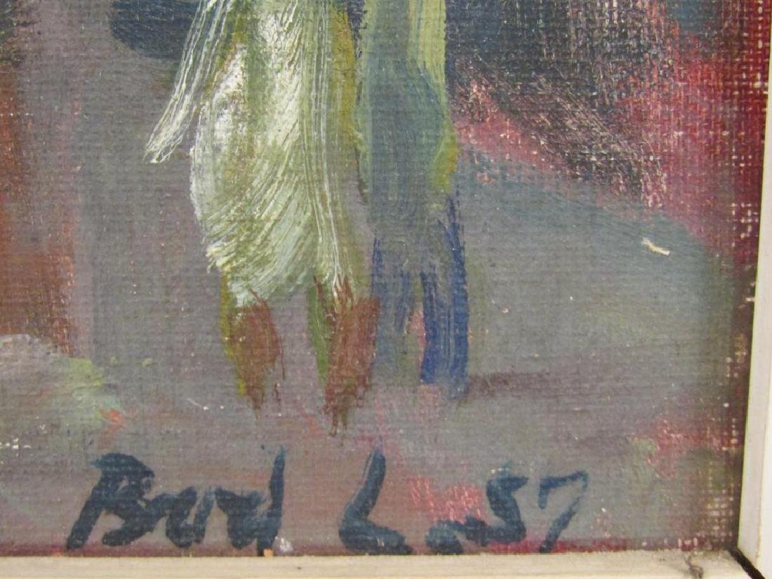 Signed Illegibly - Oil on Canvas Board - 4
