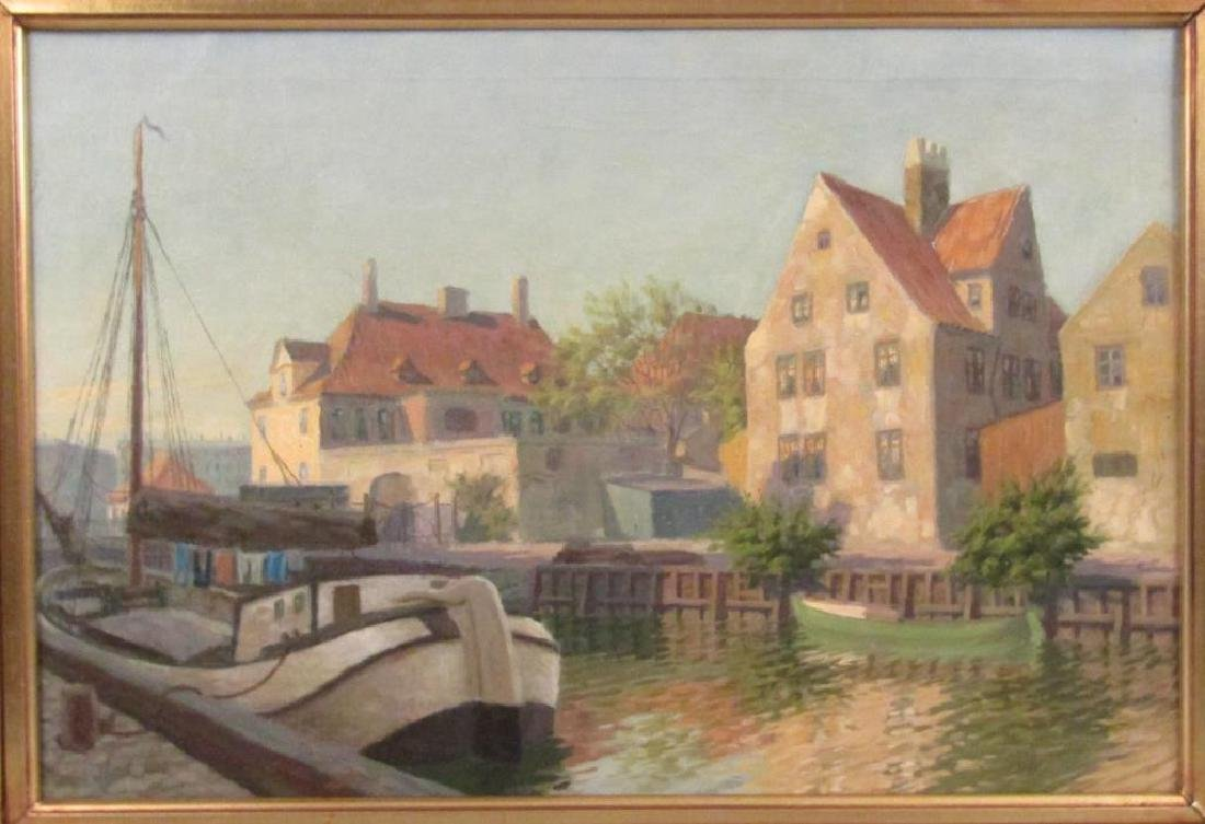 Labeled Drewsen - Oil on Canvas